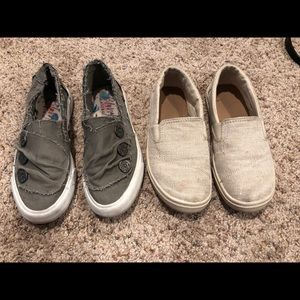 Lot of Girls Shoes Size 1 Blowfish & Toms Slip Ons